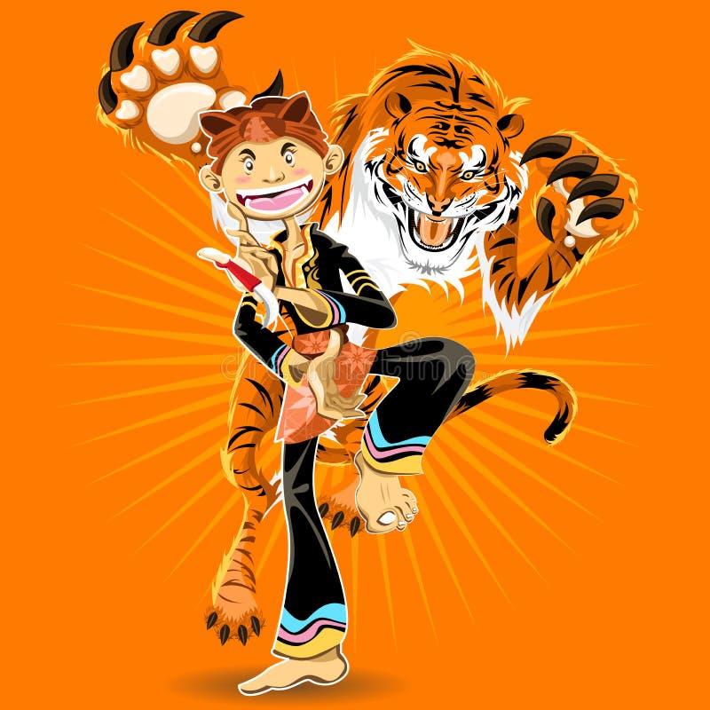 Arti marziali di Pencak Silat royalty illustrazione gratis