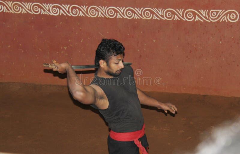 Arti marziali tradizionali del Kerala fotografia stock libera da diritti