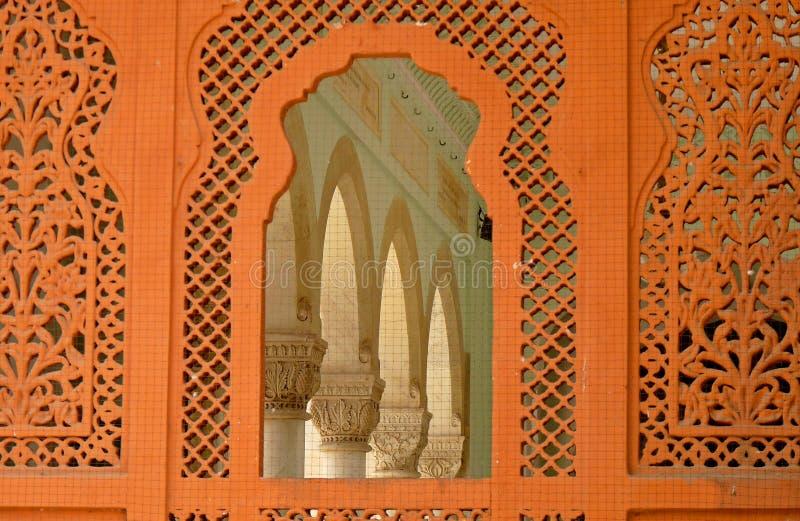 Arti medievali di progettazione: miscela di cultura indù & musulmana immagini stock