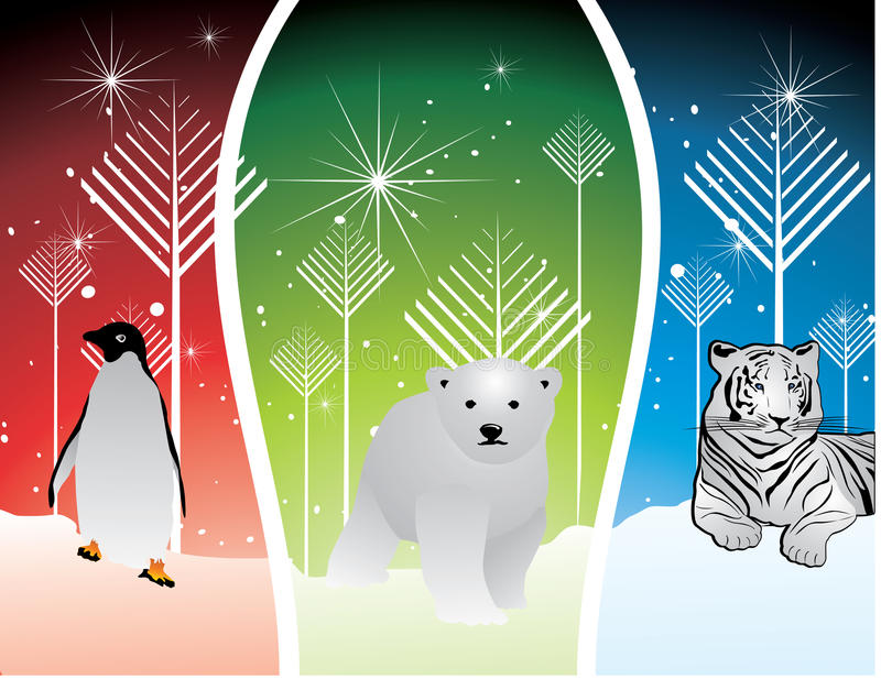 Download Artic animals stock vector. Image of winter, composition - 12452242
