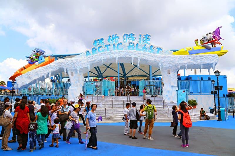 Artic blast ride ocean park hong kong royalty free stock image