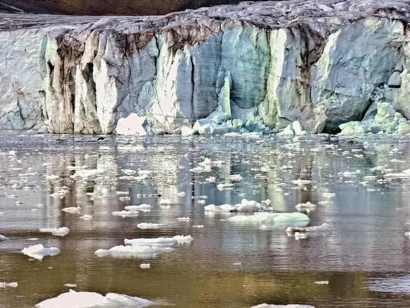artic glaciär svalbard royaltyfria bilder