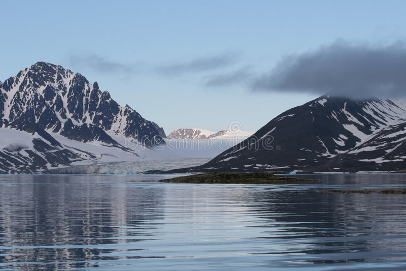 Artic landscape reflex royalty free stock images