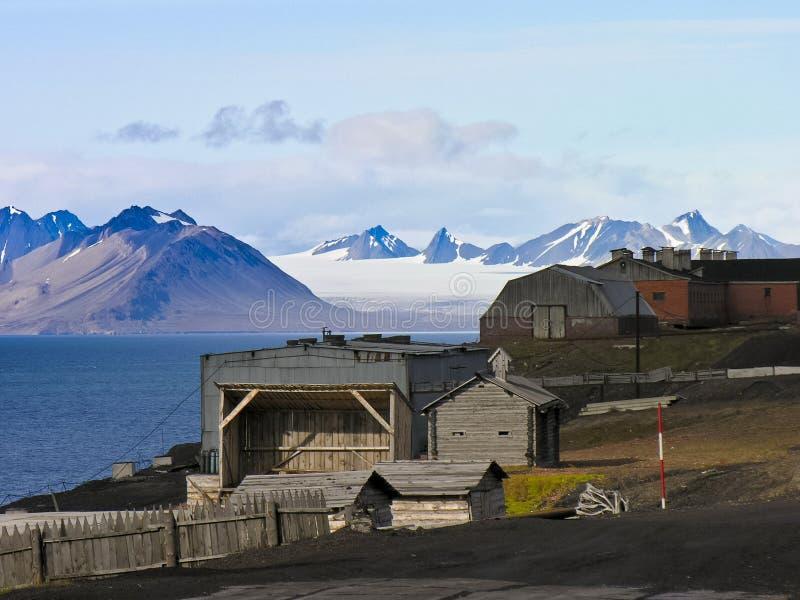 Artic rural housing landscape stock images
