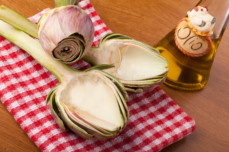 Download Artichoke Empty Half stock photo. Image of oliive, food - 29097888
