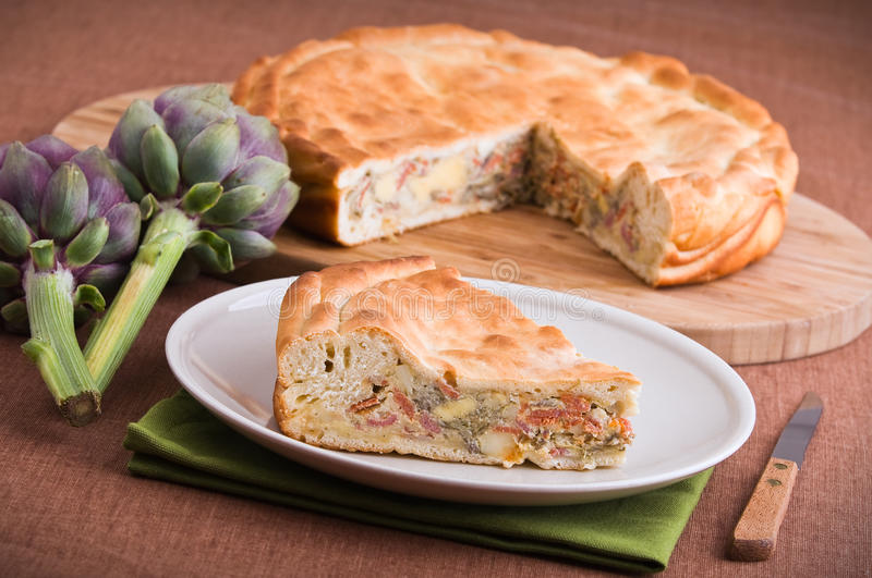 Download Artichoke Pie. stock photo. Image of nutrition, healthy - 24449666