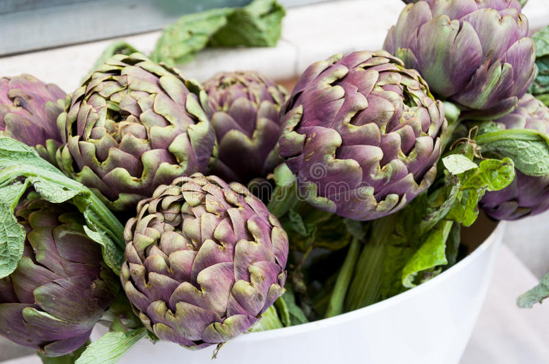Artichoke vegetables royalty free stock image