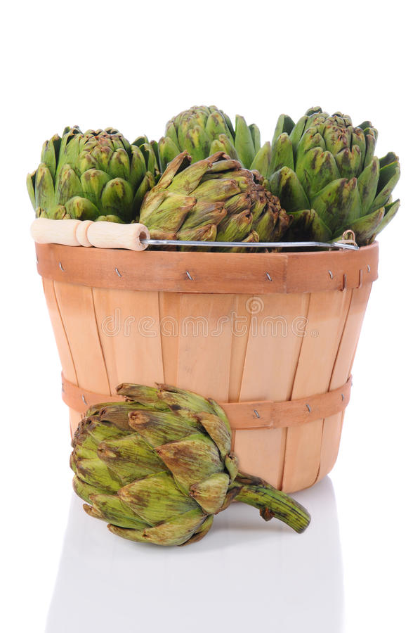 Artichokes In A Basket Royalty Free Stock Photography