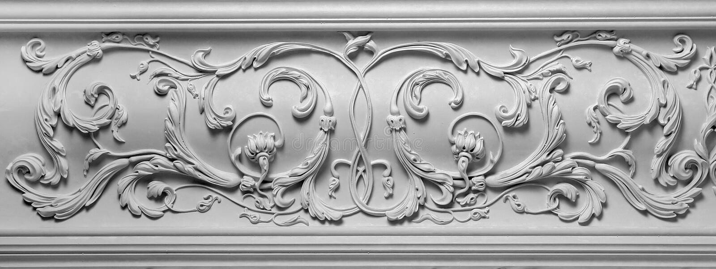 Article de décoration fait de plâtre blanc photos stock