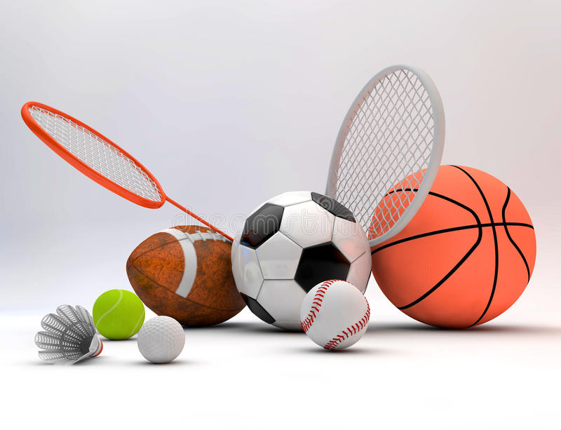 Article de sport assorti illustration stock