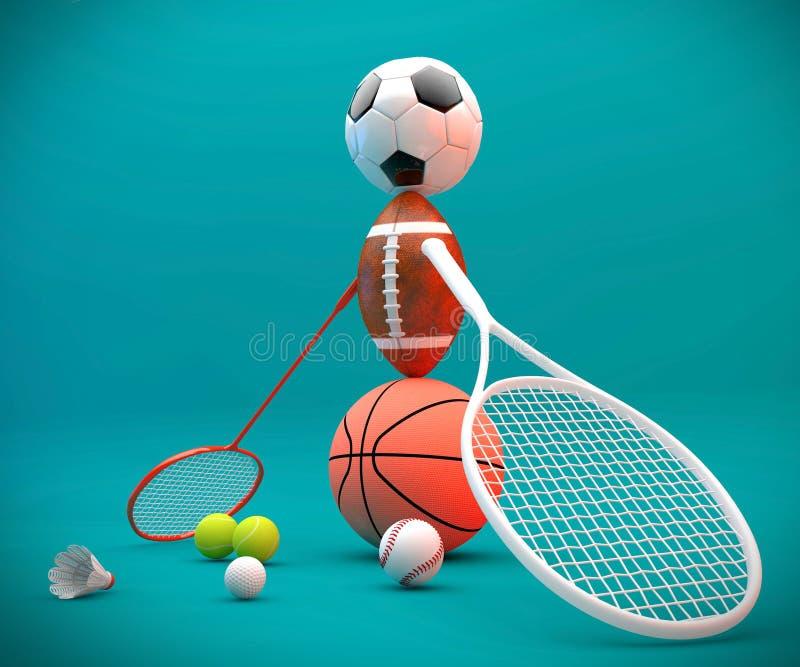 Article de sport assorti illustration de vecteur