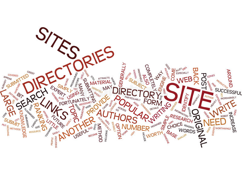 Article Directories Are A Popular Form Of Web Directory Word Cloud Concept. Article Directories Are A Popular Form Of Web Directory Text Background Word Cloud royalty free stock photos