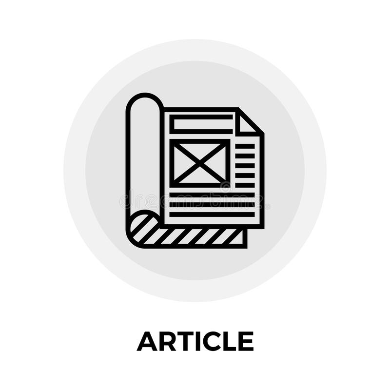 Article Flat Icon vector illustration