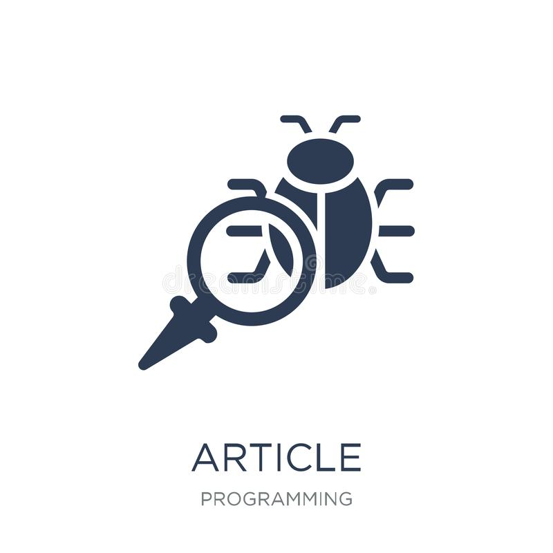 Article icon. Trendy flat vector Article icon on white background from Programming collection royalty free illustration