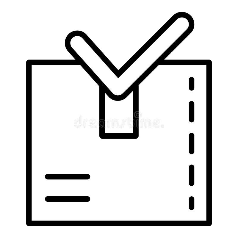 Article prêt à embarquer l'icône, style d'ensemble illustration stock