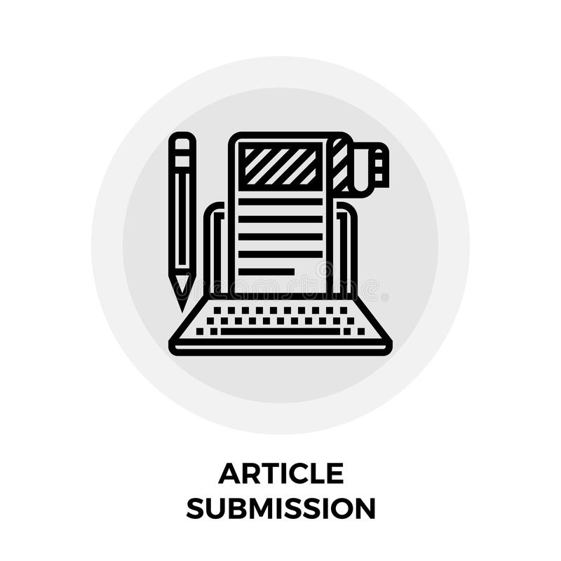 Article Submission Icon royalty free illustration