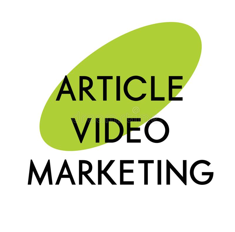 Article video marketing advertising sticker vector illustration