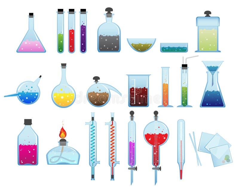 Articles chimiques de laboratoire illustration libre de droits