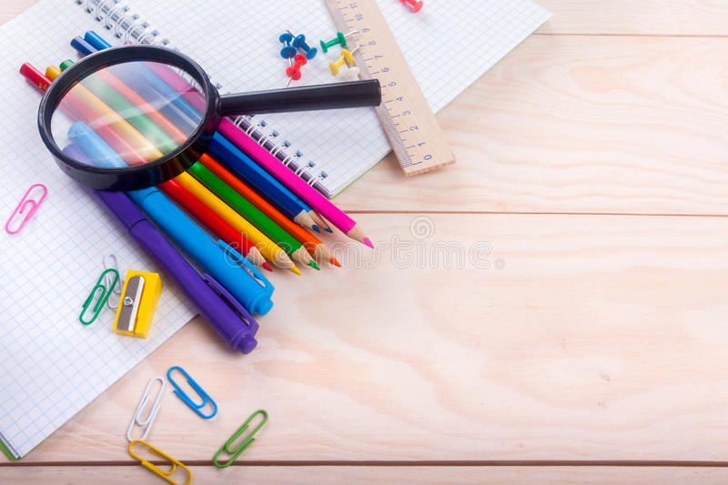 Articles d'école photos stock