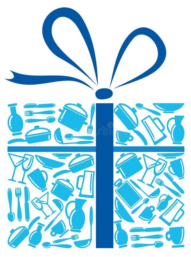 Articles dans un cadeau illustration stock