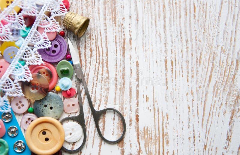 Articles de couture photographie stock