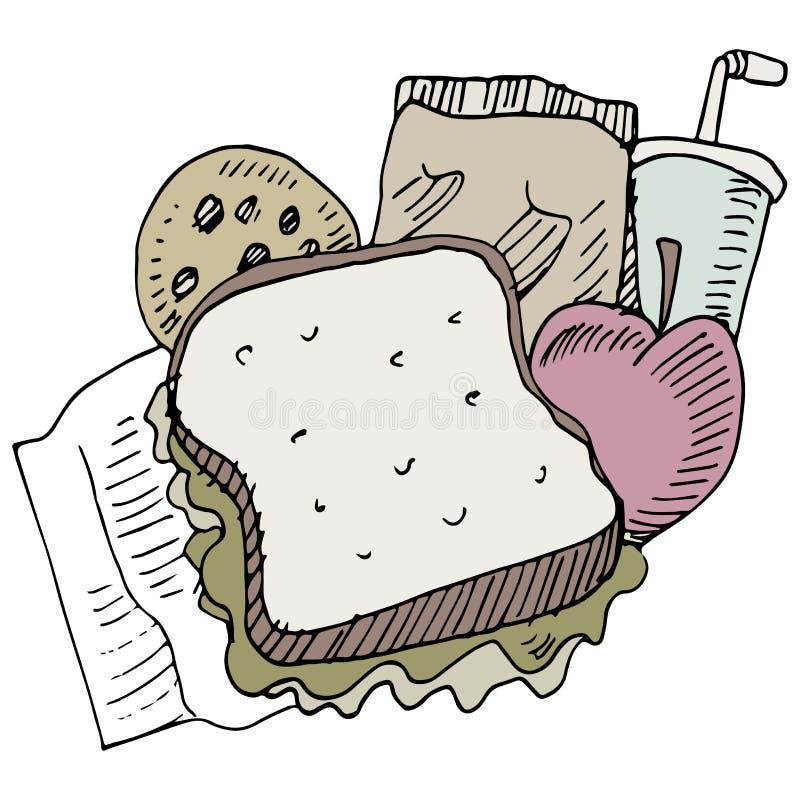 Articles de déjeuner illustration de vecteur