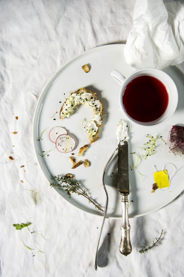 Articles de fin de série de finition de petit déjeuner image libre de droits