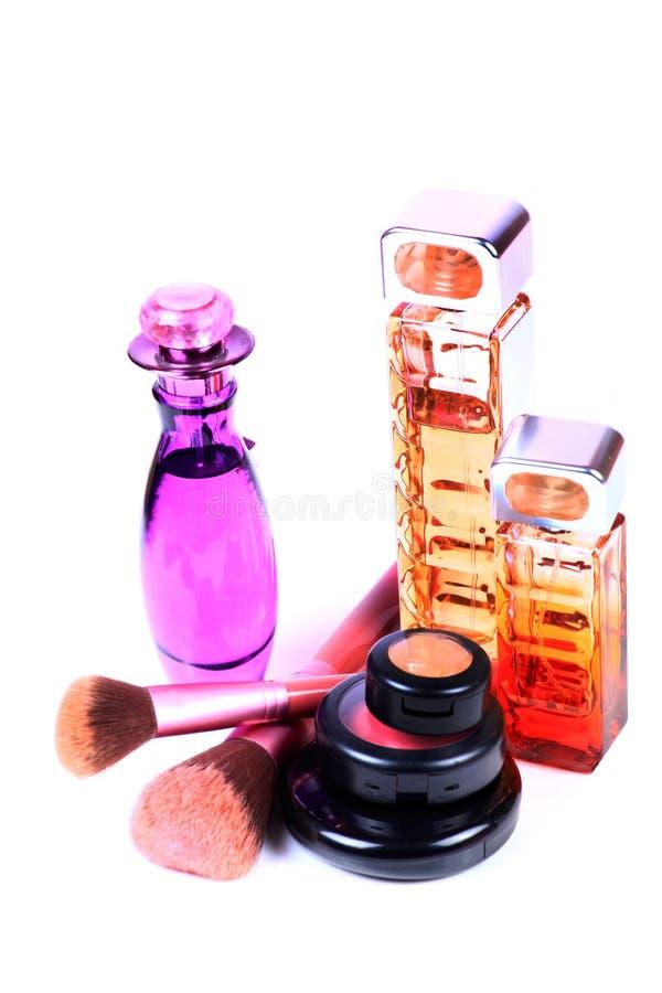 Articles de parfum et de maquillage photos stock