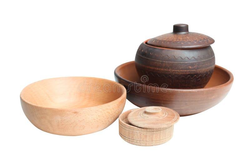 Articles en bois de cuisine photos stock