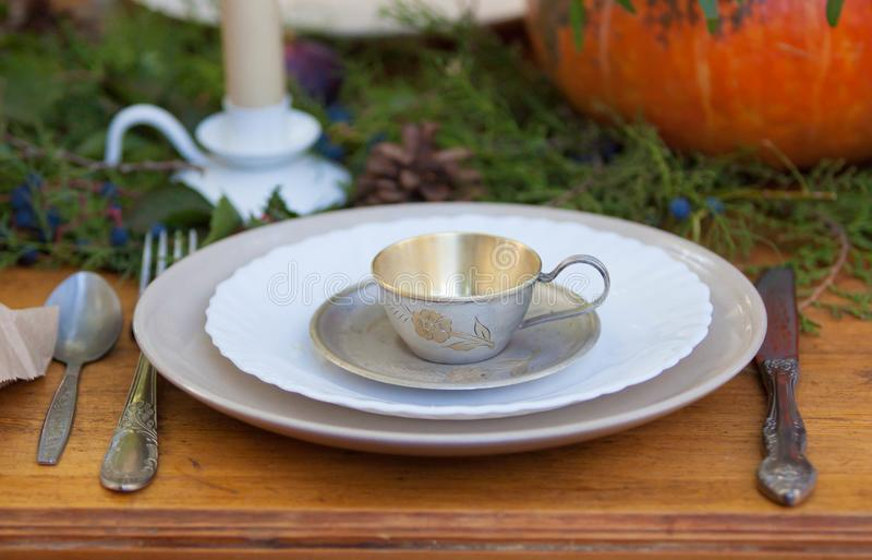 Articoli della Tabella per il tè immagini stock