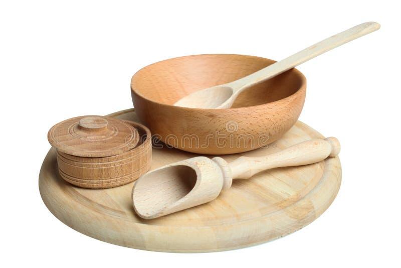 Articoli di legno della cucina immagine stock