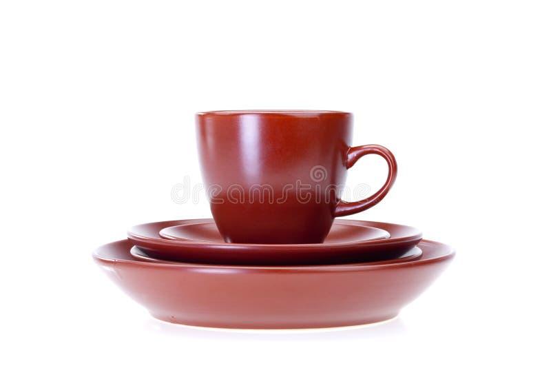 Articoli per la tavola di ceramica fotografia stock