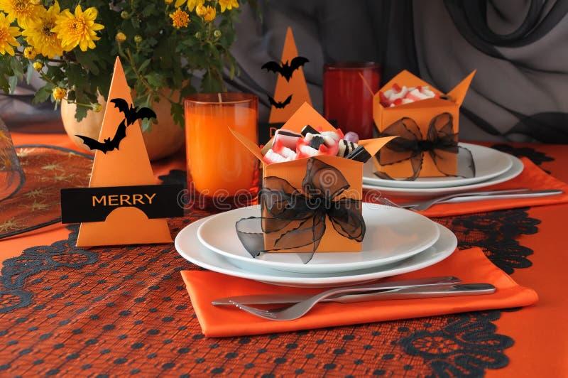 Articoli per la tavola Halloween immagini stock libere da diritti