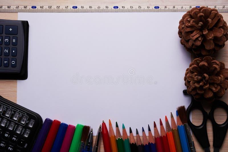 Articoli per ufficio della scuola fotografia stock