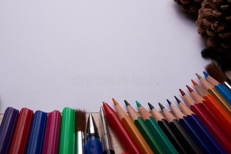 Articoli per ufficio della scuola immagine stock