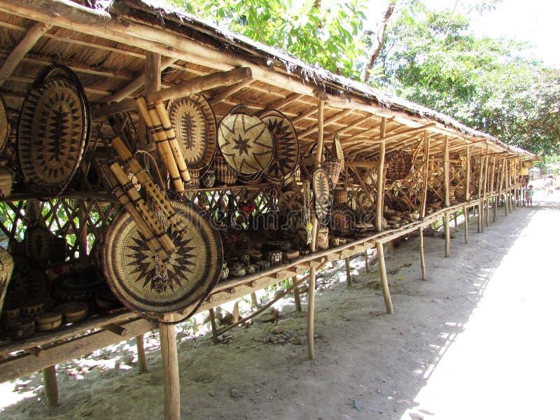Articoli tradizionali di Mangyan messi in vendita immagini stock libere da diritti