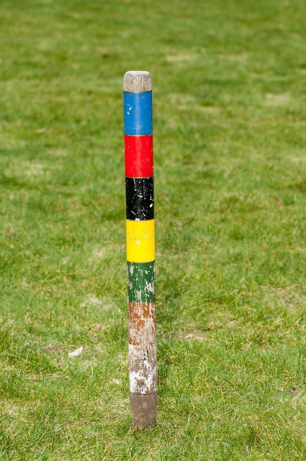 Articolo sportivo - ingranaggio del croquet immagini stock libere da diritti