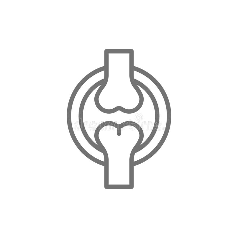 A articulação do joelho, ossos alinha o ícone ilustração royalty free