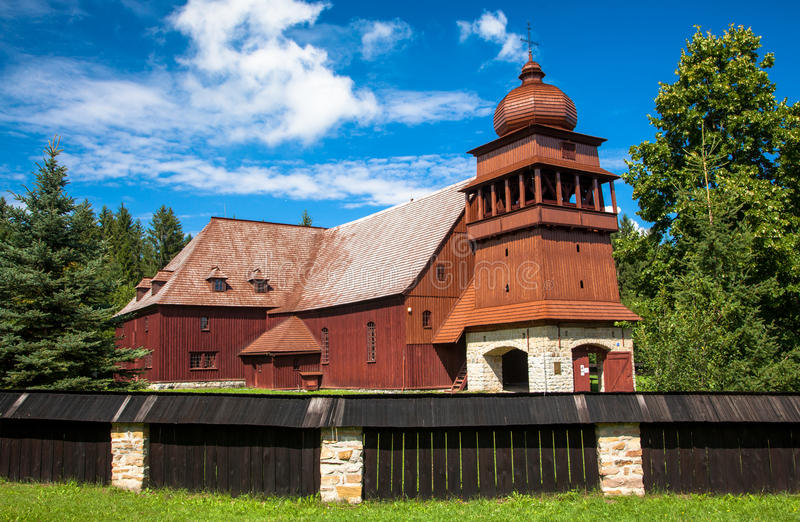 The Articular Wooden Church - Svaty Kriz, Slovakia royalty free stock photo