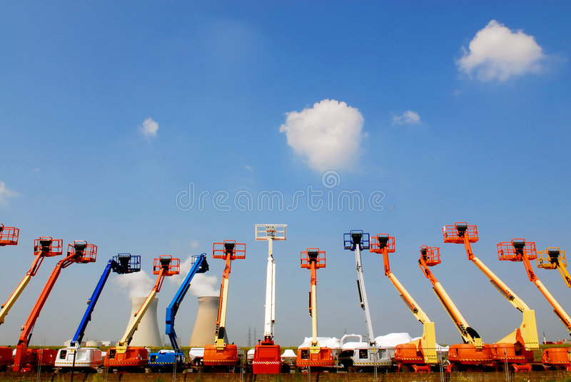 Articulating Booms royalty free stock photography