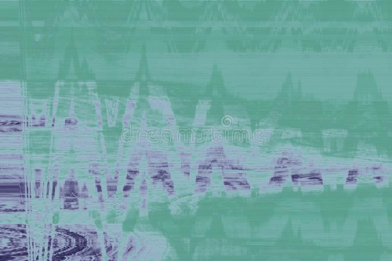 Artifact green vhs glitch background,  texture. Artifact green vhs glitch background abstract noise,  texture stock illustration