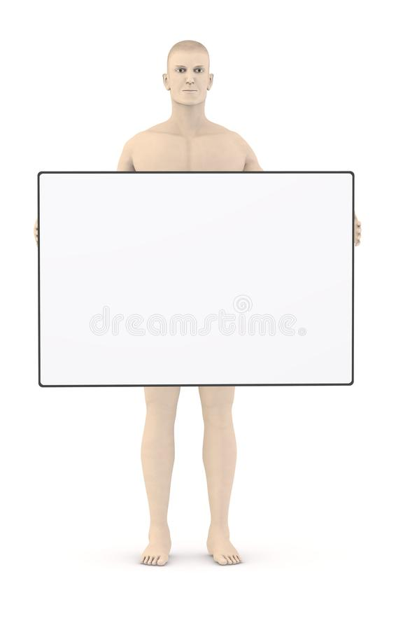 Download Artifical Character With Empty Template11 Stock Illustration - Image: 24912788