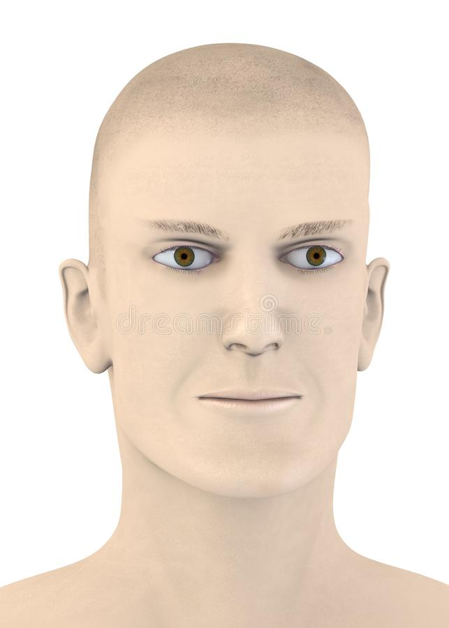 Artifical male face - indeferent vector illustration