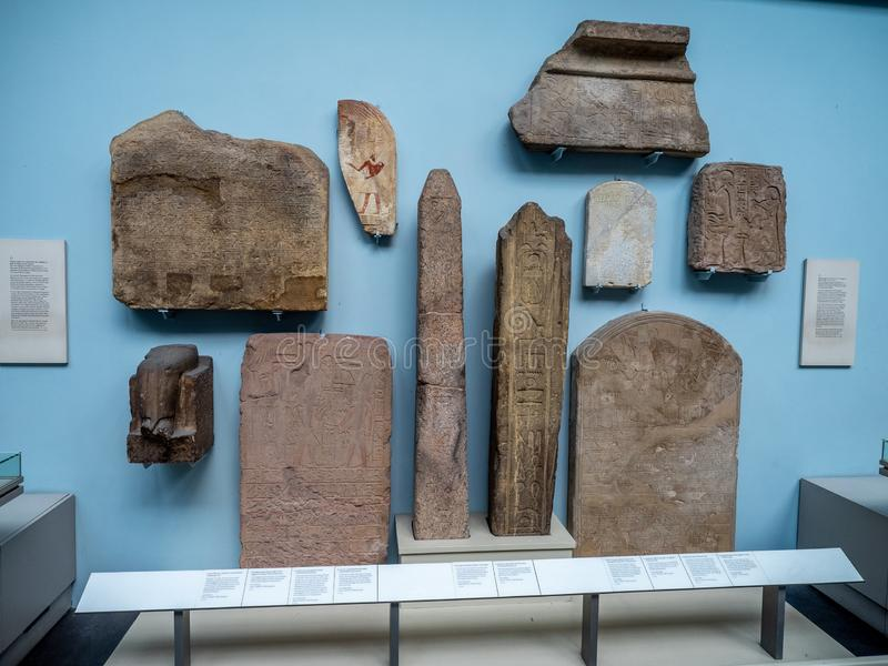 Artificats dans British Museum photographie stock libre de droits