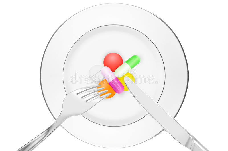 Artificial alimentation. Alimentation of the future will be artificial stock images