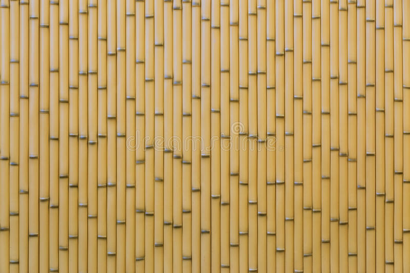 Artificial Bamboo Fence royalty free stock images