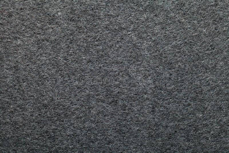 Artificial cotton. Dark gray artificial cotton texture for background. Top view royalty free stock photos