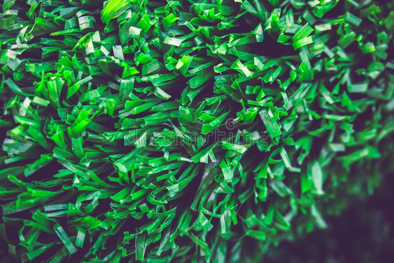 Artificial cover for the sports field. Green colour royalty free stock images