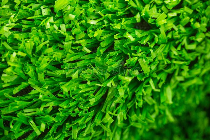 Artificial cover for the sports field. Green colour. Artificial cover for the sports field stock image
