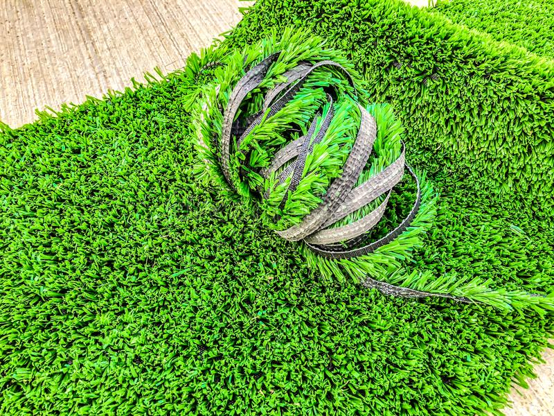 Artificial cover for the sports field. Close up shot.  royalty free stock image